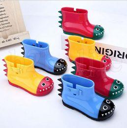 Wholesale baby rainboots - kids Crocodile design rain shoes cute cartoon non-slip soft bottom kids shoes baby animal Rain boots short water boot KKA5217