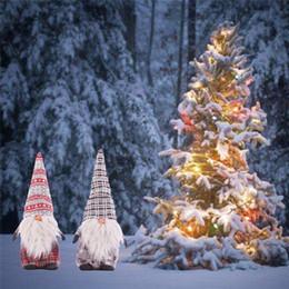 Natal, brinquedo, ornamentos, miúdos on-line-Eco-Friendly de Natal Papai Noel Dolls pe Estatueta Xmas Tree Forest Ornamentos Presentes do Natal de Toy Kids Casa Decorações