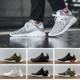 red skull shoes Coupons - Fashion NMD XR1 Running Shoes Mastermind Japan Skull Fall Olive green Camo Glitch Black White Blue zebra Pack men women sports shoes 36-45