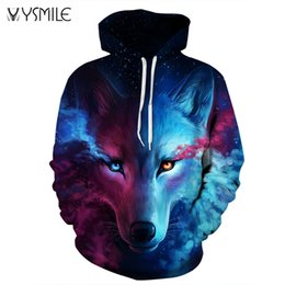 be309715a28f China Wholesale- 2017 New Brand Men s Hoodies Wolf Sweatshirts 3D Print  Couple Harajuku Hoodie Men Women