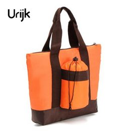Wholesale Pack Milk - Urijk Orange Cup Set Large Aluminum Foil Insulation Bag Hand Care Pack Lunch Bag Dinner Outdoor Waterproof Mommy Mother