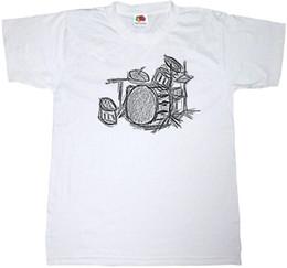 DRUM KIT T-SHIRT 100% ALGODON MUSIC DRUMMER HEAVY ROCK METAL SKETCH ART T SHIRT Nuevas camisetas Funny Tops Tee New Unisex Funny Tops desde fabricantes