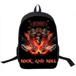 Wholesale Led Cream - Wholesale- Rock Band ACDC Backpack Led Zeppelin   Pink Floyd Punk Backpack Men Women Nirvana Street Rock Backpacks For Teenage School Bags