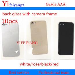 parties de mûre Promotion 10 pcs OEM nouvelle couverture arrière logement verre pour iPhone 8 8 8 plus arrière couverture arrière logement de la batterie porte châssis verre