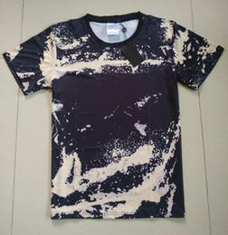 Xl mode camo kleidung online-18ss Mode Hohe Qualität Europa Paris Sommer Camo Malerei T-shirt Top Männer Frauen Kleidung Sport Baumwolle Casual Graffiti T-shirt