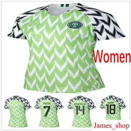 Argentina 2018 Mujeres Soccer Jerseys 18 IWOBI SHEHU 9 STARBOY 10 MIKEL IHEANACHO MUSA Custom Home Verde Mujer Hombres Niños Youth Football Shrits supplier green youth football jersey Suministro