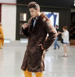 Gabardinas de cuero marrón online-Invierno otoño espesar chaquetas de cuero de piel térmica hombres ropa casual mens trench abrigos moda negro blanco marrón