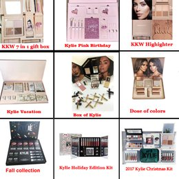 Wholesale Halloween Box Set - Kylie Fall Bundle Peacock The box by Kylie  Kylie Vacation  I WANT IT ALL Birthday KKW 7 in 1 kit  Christmas Collection Set Kylie Bundle