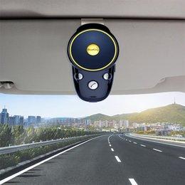 clips de visera Rebajas JINSERTA Sun Visor Clip Altavoz Bluetooth recargable Manos libres Kit de coche Bluetooth inalámbrico Teléfono con altavoz Reproductor de música MP3