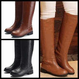 3f740db936fa size 33-43 women flat over knee boots woman riding long boot fashion snow  warm autumn winter botas brand footwear shoes P20194