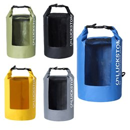 da9ed6e7be58 Outdoor PVC Waterproof Bags Dry Sack Storage Bag Rafting Sports Kayaking  Canoeing Swimming Bag Travel Kits 5L 10L 20L