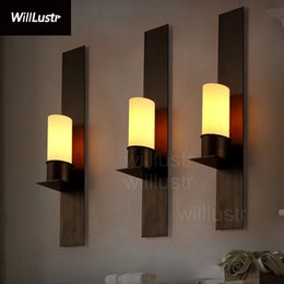 Wholesale Iron Candle Wall - Wholesale-Willlustr Timmeren and Ekster wall sconce replica Kevin Reilly candle lamp vintage frosted glass light iron wall lighting