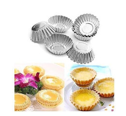 cupcake kitchen set Australia - Wholesale- Amico Silver Tone 6 Pcs Cake Cupcake Liner Baking Cup Mold Muffin Round Cup Cake Tool Bakeware Baking Pastry Tools Kitchen