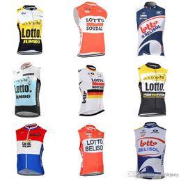 2019 chaleco de engranajes LOTTO equipo ciclismo jersey sin mangas chaleco transpirable tops Bicycle Riding Clothes bicicleta de montaña con estilo ciclismo engranaje c2111 rebajas chaleco de engranajes