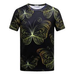 Canada Nouveau mode créatif lignes gravées imprimées 3d femmes hommes t-shirt or chaîne t-shirt double harajuku t-shirt streetwear été top X04 cheap engraved chains for men Offre