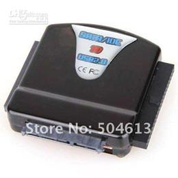 Tüm Ücretsiz Kargo Yeni USB sata 1.8 / 2.5 / 3.5 IDE HDD Sabit Disk Kablo Adaptörü Siyah Renk nereden sata 1.8 adaptör tedarikçiler