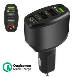 Дисплей зарядки мобильного телефона онлайн-3-портовый USB 4.2 A быстрое автомобильное зарядное устройство адаптер светодиодный дисплей быстрая зарядка для сотового телефона