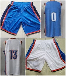 Wholesale Signature White - 2018 The New Basketball Jerseys Shorts With Name Brand Men Women Youth Signature Throwback Kids 0 7 13 Blue White