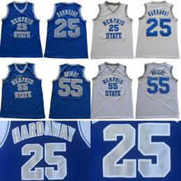 NCAA Memphis State Tigers Penny # 25 Hardaway Jerseys Stitched 55 Lorenzen Wright College Баскетбол 1 Черный Синий Полосатый белый S-3XL от