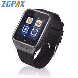 2019 assistir telefones dual core ZGPAX S8 Relógio Inteligente Android 4.4 MTK6572 Dual Core GPS 3.0MP Câmera WCDMA WiFi MP3 MP4 Smartwatch Telefone assistir telefones dual core barato