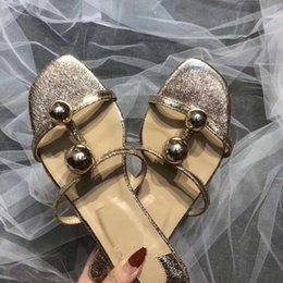 Wholesale women thin leather belt - 2018 summer new square head open toe flat thin belt sandals female summer wear wild slippers female