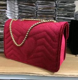 Wholesale Designer Handbags Free Shipping - luxury brand Marmont handbags women tote bag leather shoulder bags famous designer crossbody bag female bags Free Shipping velvet bag