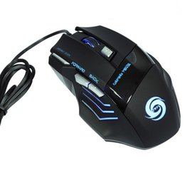 Joueur professionel en Ligne-Professional 5500 DPI Gaming Mouse 7 Buttons LED Optical USB Wired Gaming Mice Gaming Computer Mouse for Pro PC Gamer Mouse