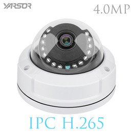 Wholesale Vandalproof Dome - H.265 4MP IP Dome Camera P2P Onvif Security Camera Vandalproof Alarm Email Night Vision Network Camera