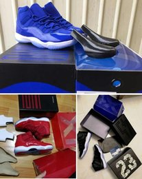 Wholesale Good Jams - Wholesale Blue with good box Win Like 96 ice blue Space Jam 11 Midnight Navy Blue Gym Red Basketball shoes Free Shipping