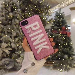3d bordado rosa glitter bling phone case para iphone 6s 7 8 plus x capa para samsung galaxy s8 s9 plus nota 8 de Fornecedores de telefone rosa samsung