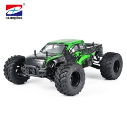 Wholesale scale rc trucks - HBX 12853 RC Car 4WD 2.4Ghz 1:12 Scale 37km h High Speed Remote Control Car Electric Powered Off-road Truck Model green