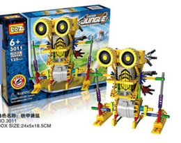 Wholesale Toys Kangaroos - Deformation small eye robot children 's educational assembling electric toys