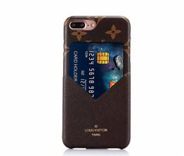 Крышка обратной карты онлайн-Горячие роскошные модные модели красочные сетки кожаный телефон задняя крышка для iphone X XR XS Max с кредитной картой мягкий чехол для iphone 6 6 S 7 8 Plus