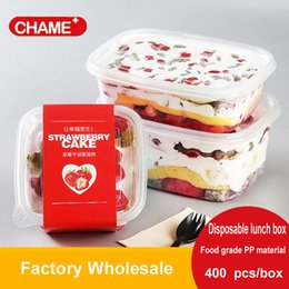 Wholesale Food Grade Packaging Materials - 709ML Disposable Rectangle Transparent Boxes Food packaging Box Food Grade PP Material Take-out Packaging Plastic Boxes With Lid 200pcs box
