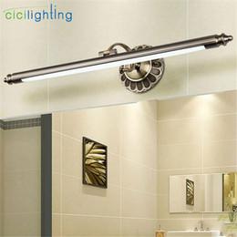 Wholesale Led Vanity Light Bathroom - 2017 New L50cm 70cm 90cm Modern LED Mirror Lights bronze wall lamp Bathroom longer wall sconce lampe deco vintage vanity lamp