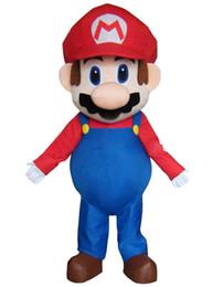 Costume super mascotte online-2014 Grande lusso Super Mario Bros. Mascot Costume adulto bellissimo abito da sera