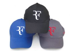 Toptan-Ücretsiz Kargo Siyah / Kırmızı / Beyaz Mavi ve Sarı ile Roger Federer Cap Tenis Şapka cheap black yellow hats nereden siyah sarı şapka tedarikçiler