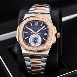 Wholesale oval white sapphire - 2018 New Arrival Top Quality Mens Mechanical Wristwatch with Stones, Many Color Availanle