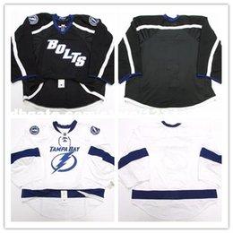 Wholesale Edge Jersey - Cheap wholesale custom TAMPA BAY LIGHTNING AWAY BLACK THIRD EDGE JERSEY GOALIE CUT Mens Stitched Personalized hockey Jerseys