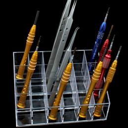 Handy reparaturteile online-Großhandels-Handy Reparatur Werkzeug Aufbewahrungsbox Reparatur Werkzeug Komponente Box Schraubendreher Aufbewahrungsbox Teile Kosmetikkoffer