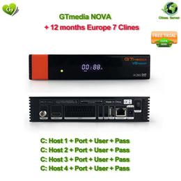 Actualización de Freesat V8 Gtmedia V8 NOVA Receptor de TV por satélite DVB-S2 Europa Clines por 1 año Built Wifi Dongle Power vu CCcam Youtube desde fabricantes
