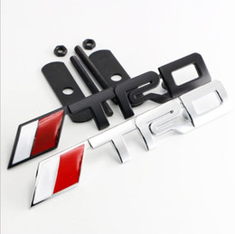Wholesale Trd Badge Emblem - 3D Metal TRD Auto Car TRD Badge Emblem Decal Sticker