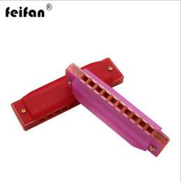 Harmonica de jouet en plastique en Ligne-Feifan harmonica plastique 10 trous harmonica enfants jouet instrument instruments