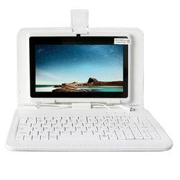 2019 casos de pc tablet android Yuntab 2 cores 7 polegada a33 quad core 1.5 ghz q88 tablet pc 1024x600 câmera dupla android tablet bluetooth com teclado caso desconto casos de pc tablet android
