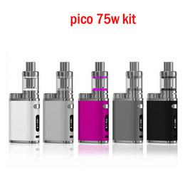E fume des mods en Ligne-Pico 75w Starter Kits E cigarettes Avec 75W vape mod VW Bypass TC 2 ml Melo 3Tank vaporisateur vape stylo boîte mod fumer