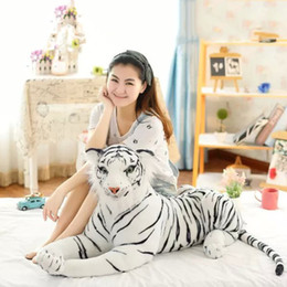 Wholesale White Tiger Plush - Simulation tiger white plush giant tiger white plush doll boy's kids children Christmas gifts soft toys