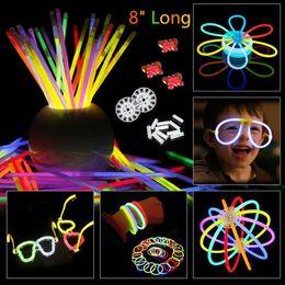 giocattoli per festival Sconti 200pcs / set Colorful Glow in the Neon Glowstick giocattolo per bambini scuro fluorescenza del bastone di incandescenza bracciali collane Festival Xmas Party