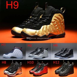 Wholesale girls pro - Youth Pro Metallic Gold Dr Doom Royal Kids Basketball Shoes Girl Boy Penny Hardaway Basket Ball Trainers Shoes Sport Sneakers 11C-3Y