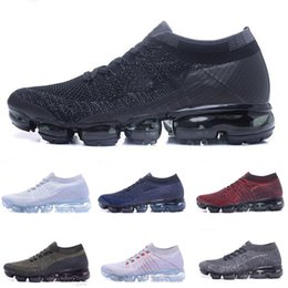 Wholesale free green products - High quality New Running Shoes Cushion 2018 Men Women Vapormax Product Hot Sale Breathable Sports Shoes Sneaker Eur 36-45 Free shipping