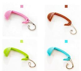 Sacchetto del trasduttore auricolare online-MultiColor Bag Tote Handbag Hanger Purse Table Hook Supporto per auricolari